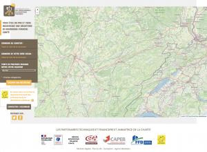 Outil de recherche cartographique des déchèteries de Bourgogne-Franche-Comté accueillant les professionnels