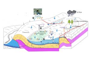 Schéma du captage de la source d'Arcier