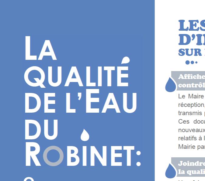 Poster qualité de l'eau du robinet