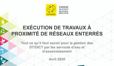 Première page de la note de synthèse de l'ASCOMADE sur l'exécution de travaux à proximité de réseaux enterrés