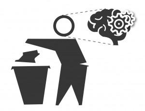 Illustration déchets et changement de comportement